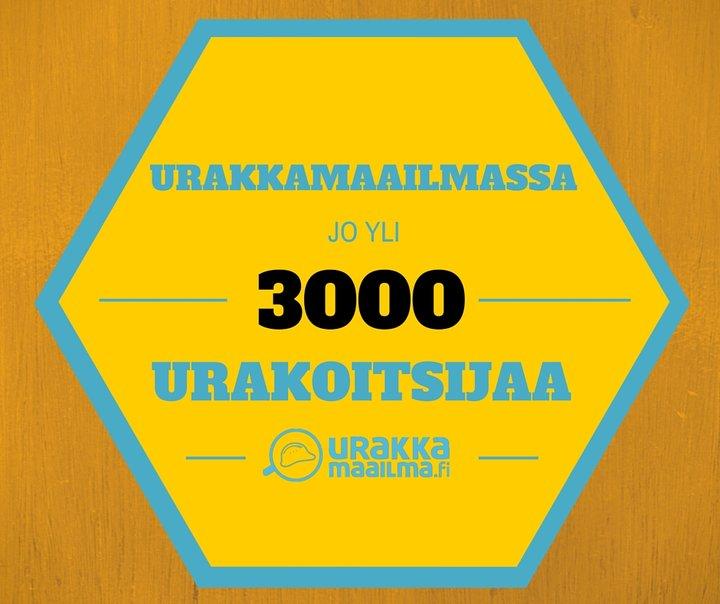Suomen eniten arvosteluja rakentajista