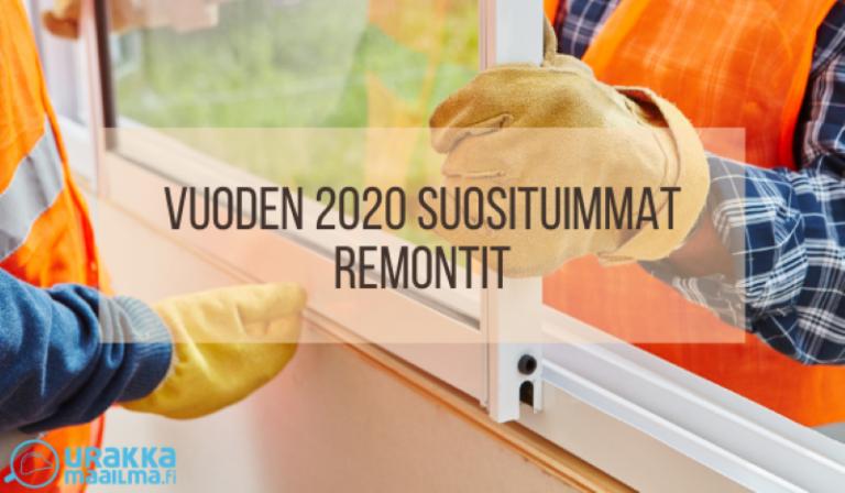 Näin Suomi remontoi vuonna 2020